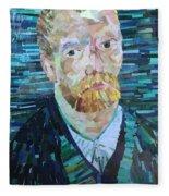 Blue Van Gogh Fleece Blanket