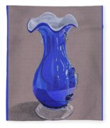 Blue Vase Fleece Blanket