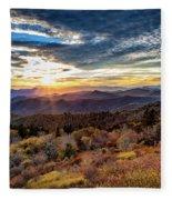 Blueridge Mountain Sunburst Fleece Blanket