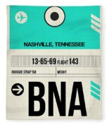 Bna Nashville Luggage Tag II Fleece Blanket