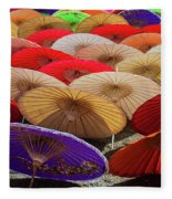 Bo Sang Umbrellas, Thailand Fleece Blanket