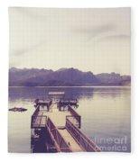 Boat Dock Tonto National Forest Fleece Blanket