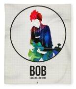 Bob Dylan Watercolor Fleece Blanket