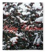 Happy Christmas 12 Fleece Blanket