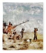 Bofors, Desert War, Wwii Fleece Blanket