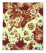 Boho Butterflies Fleece Blanket
