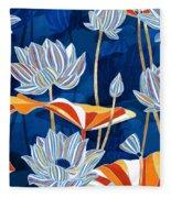 Bold Botanical Fleece Blanket