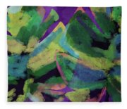 Bold Tropical Dreams- Art By Linda Woods Fleece Blanket