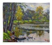 Bond Lake Park Fleece Blanket