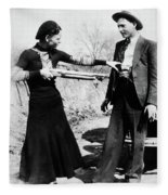 Bonnie And Clyde Fleece Blanket