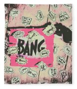 Boom Crash Bang Fleece Blanket