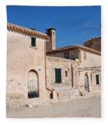 Boquer Valley Building In Majorca Fleece Blanket