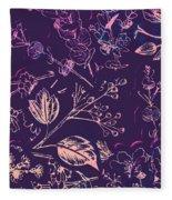 Botanical Branching Fleece Blanket