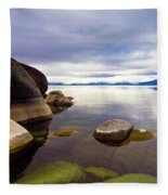 Boulders At Sand Harbor Fleece Blanket