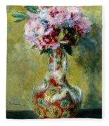 Bouquet In A Vase, 1878 Fleece Blanket