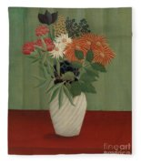 Bouquet Of Flowers With China Asters And Tokyos, 1910 Fleece Blanket