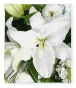 Bouquet Of Love  Fleece Blanket by Andrea Kollo