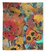 Bouquets Fleece Blanket