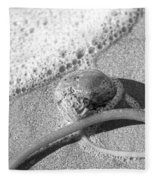 Bowling Ball Beach California Sand Story Fleece Blanket