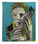 Boy Holding A Bird Fleece Blanket