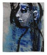 Boy In Blue Fleece Blanket