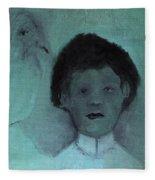 Boy With A Bird Fleece Blanket