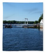 Brass Point Bridge On The Rideau Canal Ontario Fleece Blanket