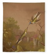 Brazilian Hummingbirds II Fleece Blanket