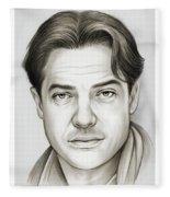 Brendan Fraser Fleece Blanket