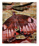 Brick In The Wall Fleece Blanket