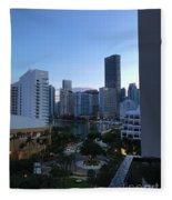 Brickell Key Miami Florida Fleece Blanket