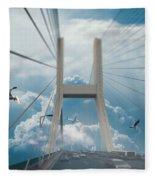 Bridge In The Clouds Fleece Blanket