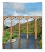 bridge over river Tweed near Melrose towards Gattonside Fleece Blanket