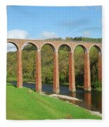 bridge over river Tweed near Melrose Fleece Blanket