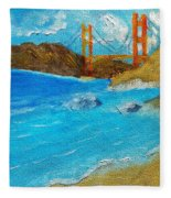 Bridge Over The Bay Fleece Blanket