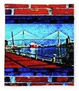 Bridges And Walls  Fleece Blanket