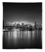 Bright Lights Of New York Fleece Blanket