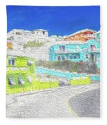 Bright Parish Life Bermuda Fleece Blanket