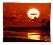 Bright Rota, Spain Sunset Fleece Blanket