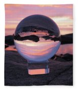 Brighton Beach Reflections Fleece Blanket