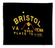 Bristol Sign And The Moon Fleece Blanket