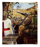 British Crusader Fleece Blanket
