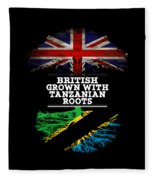 British Grown With Tanzanian Roots Fleece Blanket