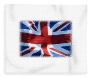 British Union Jack Flag T-shirt Fleece Blanket