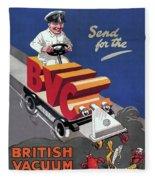 British Vacuum Cleaner Vintage Advert 1910 Fleece Blanket