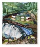 Bronx River Falls Fleece Blanket
