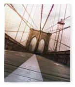 Brooklyn Bridge, New York City Fleece Blanket