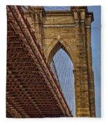 Brooklyn Bridge Over And Under Fleece Blanket by Susan Candelario
