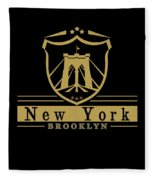 Brooklyn New York Bridge Pride Icon Fleece Blanket