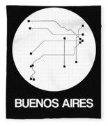 Buenos Aires White Subway Map Fleece Blanket